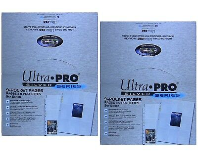 Ultra Pro Silver 9 Pocket Pages, lot of 2 x 100 page count boxes