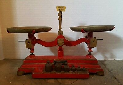 Antique HENRY TROEMNER APOTHECARY PHARMACY SCALE 12 ounce 7-W Original Complete