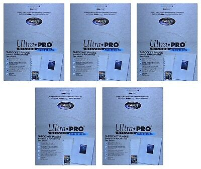 Ultra Pro Silver 9 Pocket Pages, lot of 5 x 100 page count boxes