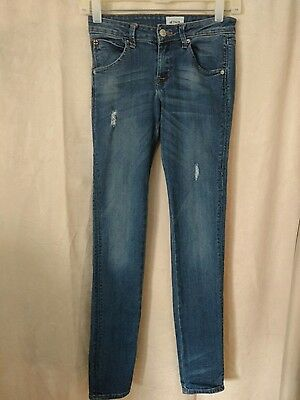 Girls HUDSON Kids Skinny Jeans Leggings Distressed Size 14