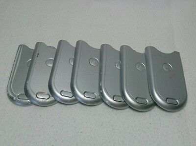 Lot Of 7 Used (Preowned) Battery Door Back Cover Oem Motorola V180 Silver