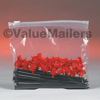 100 10x13 Clear Plastic Bag Slide Seal Zipper Poly Locking Reclosable Bags 2 MiL