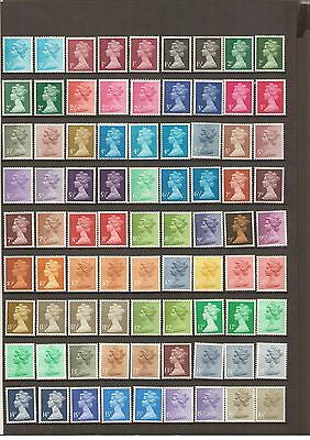 Gb Lot 28   A  Collection  Of Unmounted Mint Definitives All Different.