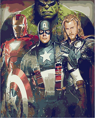 Diy Oil Painting paint By Number  Home Decor Wall Picture The Avengers