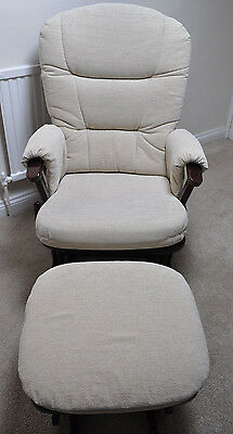 Dutailier Glider Rocking Chair and Foot Stool