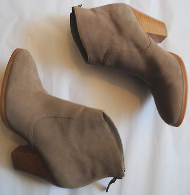 Tesori gray suede leather Ankle Boots Booties size 4M