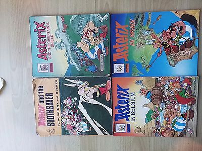 Collection of 8 Asterix Vintage Paperback Books Goscinny and Uderzo