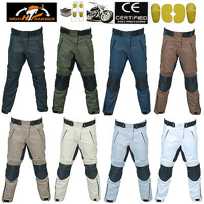 Men Motorbike WaterProof Cordura Textile Pants/Trousers With CE Approved Armour