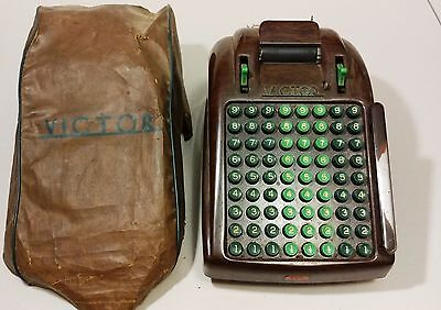 Vintage - Victor-Brown Bakelite Industrial Electric Adding Machine No Cord -READ