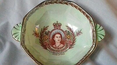 maling lustre queens coronation 2 handled bowl