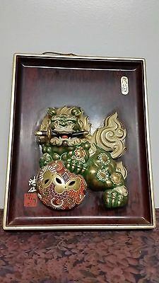 Vintage Japanese Ceramic Foo Dog Signed