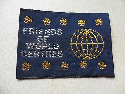 Friends Of World Centres Australian Girl Guides Cloth Badge