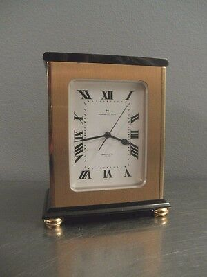 Vintage HAMILTON Electronic Swiss Made Brass Clock New in Box Never Used