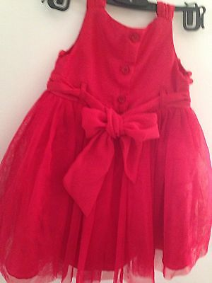 Hot Red Party Dress Kids (wedding/birthday/etc.) 6-12mnths