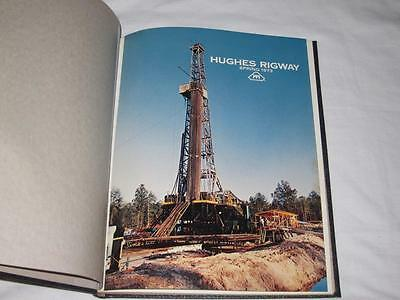 1973 Howard Hughes Tools Rigway Magazine Hardbound 4 Issues Oil Drilling Rigs