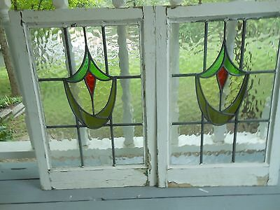 MA10-150 Very Pretty Older Leaded Stained Glass Window From England 2 Available
