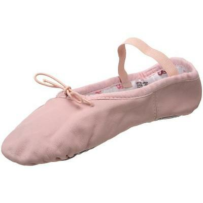 Bloch 3550 Girls Bunnyhop Pink Solid Leather Ballet Shoes 5.5 Wide (C,D,W) BHFO