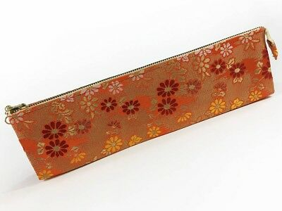 Unused Kyoto Geisha Traditional Japanese Kimono Sensu Folding Fan Case May-E