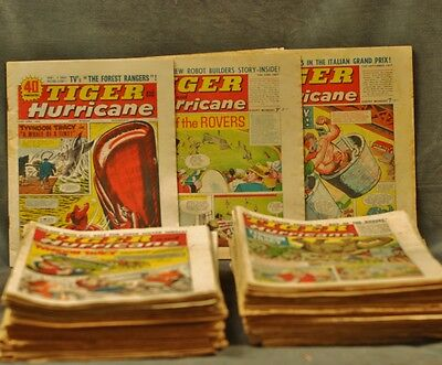 62 Issues Of Tiger And Hurricane Comic  1966-67