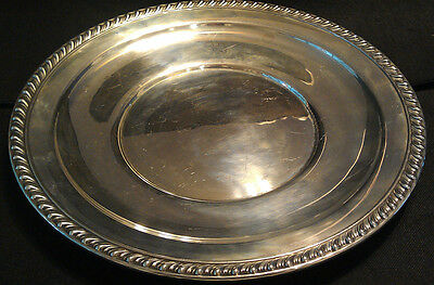 """Large Wallace Sterling Silver Platter Tray ~ 12"""" ~ 524g"""