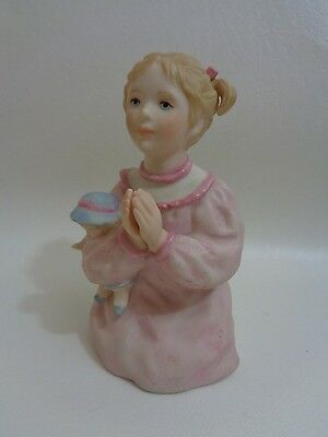 Cybis Porcelain Figurine Girl with Doll Praying