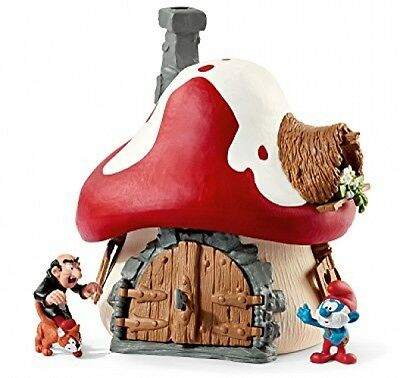 The Smurfs 20803 Schleich Smurf House with Papa Smurf and Gargamel and Azrael