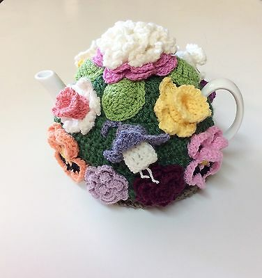 Crochet Tea Cosy Ann's Cottage Garden Range. Mother Day Gift