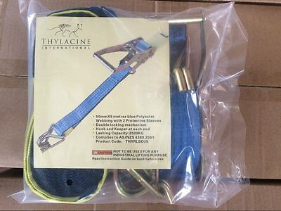 Ratchet Strap with Swan Hooks 2.5T Box of 9 - Cheapest on Ebay! AusWide Shipping