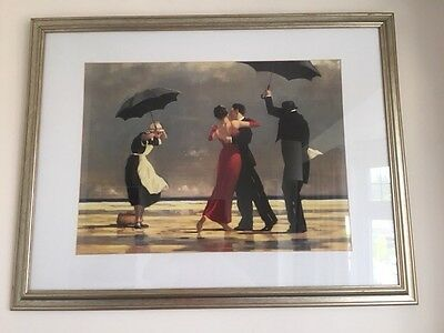 Framed print The singing Butler by Jack Vettriano