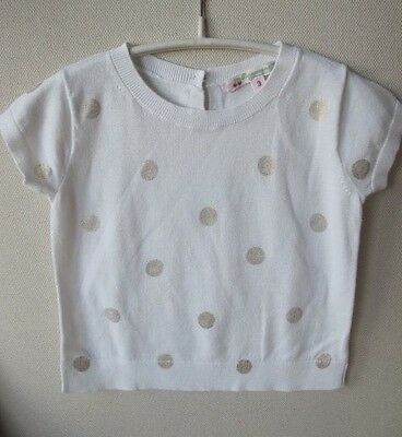 Bonpoint Baby Polka Dot Cotton Sweater Top 3 Years