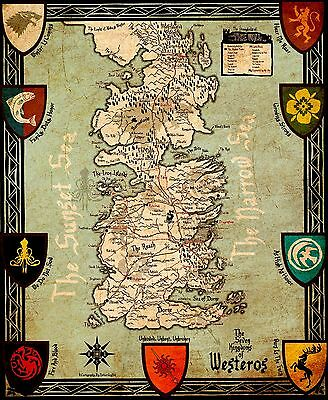 A3 Game Of Thrones The Realm of Ice and Fire Map POSTER GOTW03 BUY 2 GET 1FREE