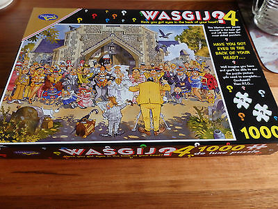 Wasgij 1000 piece jigsaw puzzle. No 4 - A Day to Remember , The Wedding