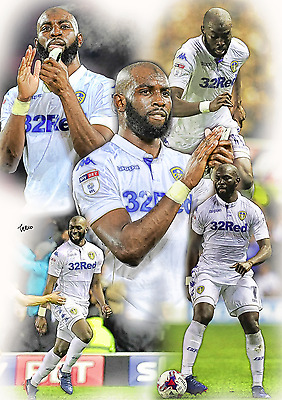 Souleymane Doukara Leeds United Unframed Pencil Drawing Print 001 Ltd Ed 1 of 5