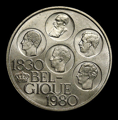 1980 Belgium 500 Francs French Legends 150 Ann. Of Independence  Silver Coin
