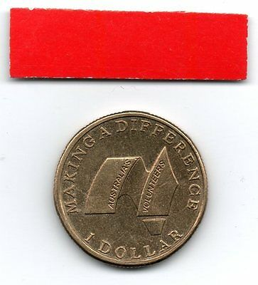 AUSTRALIA $1 Dollar coin 2003 Australian Volunteers - Making a difference