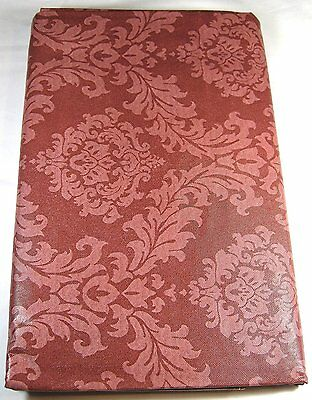 Raspberry  Scroll Flannel Back Vinyl Tablecloths Assorted Sizes including XL