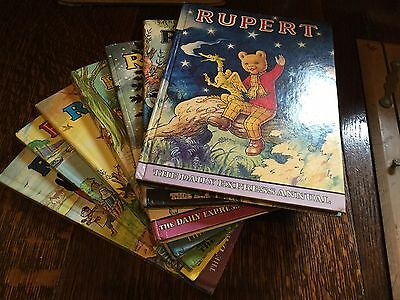 Original Vintage Rupert The Bear Annuals 6 Books 1965 Magic Paintings