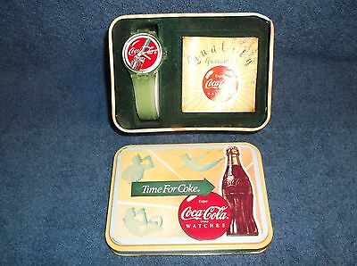 1988 Time For Coke Watch In Tin With Paperwork
