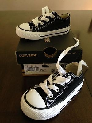 Converse All Star Black White Canvas Sneakers Toddler Infants Sz 5 Pre-Owned EUC