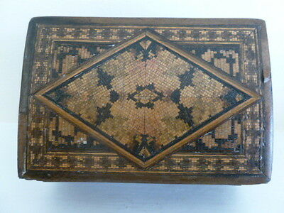 A small 19th century Tunbridge Ware trinket wood  box
