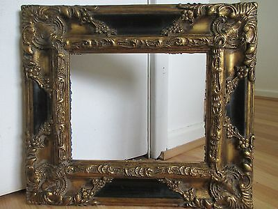 Stunning Ornate Black and Gilt Frame with Floral Foliage for Picture - Painting
