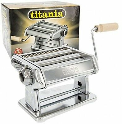 GSD TITANIA Pasta Machine, Silver - Producing a 15 cm leaf in 6 thicknesses