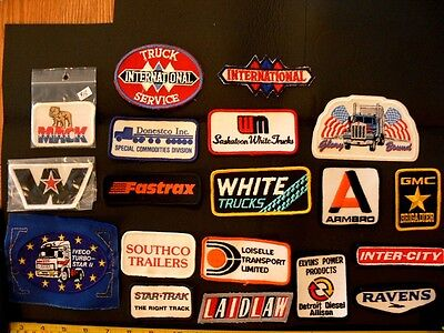 Embroidered patch LOT C trucking transport vintage original 19 asstd 1970s items