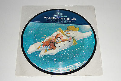 """THE SNOWMAN WALKING IN THE AIR original 1985 STIFF PICTURE DISC 7"""" - NEW & MINT!"""