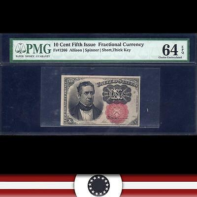 Fifth Issue 10c Fractional Currency PMG 64 EPQ  Fr 1266