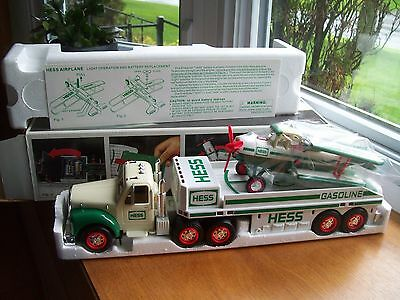 2002 HESS Toy Truck and Airplane, NEW, Mint in Box PERFECT CONDITION