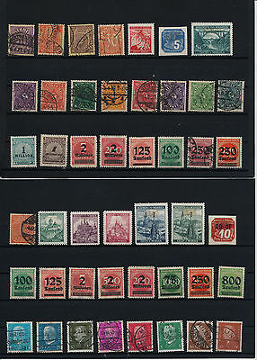 Germany, Deutsches Reich,  liquidation collection, stamps, Lot, used (Ohr 1)