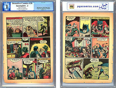 Detective Comics #38 Pgx 0.1 *page 3 Only* First Robin App Jerry Robinson 1940