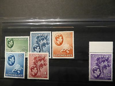 Seychelles KGVI 1938 part set of 6 LMM