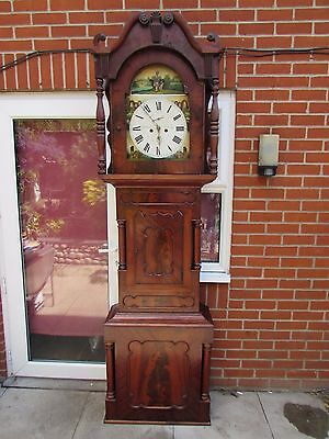 Antique 19th Century Impressive Scottish Mahogany Case Grandfather Clock W.Potts